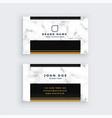 elegant black and gold marble business card design vector image