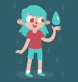 Elemental Girl Happy With Water vector image vector image