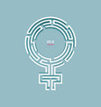 female sign vector image vector image