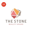 Flat design stone color minimalism quality brand vector image vector image