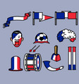 france soccer supporter gear set vector image vector image