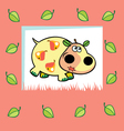 fruity hippo vector image vector image