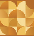 geometric simple golden colored seamless pattern vector image vector image