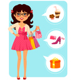 girl at mall vector image vector image