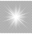 glowing light effect vector image vector image