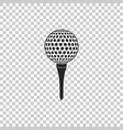 golf ball on tee icon on transparent background vector image vector image