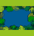 green tropical leaves background vector image vector image