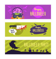 halloween banner for social media vector image vector image