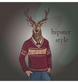 hand drawn deer hipster vector image