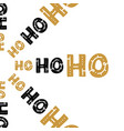 hand written lettering hohoho text on isolated vector image