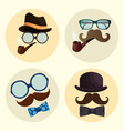 happy fathers day set accessories icons vector image