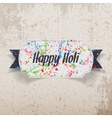 Happy Holi greeting Card with color Splashes vector image