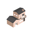house architecture urban building isometric style vector image vector image
