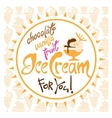 Ice Cream Poster vector image vector image