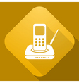 icon of Radio Phone with a long shadow vector image vector image