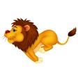 Lion cartoon running vector image vector image