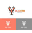 lobster and cancer logo design template vector image vector image