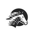 logotype horse vector image vector image