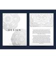 Magazine with silver mandala Realistic brochure vector image vector image