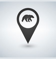 map pin pointer bear icon vector image vector image