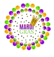 mardi gra composition vector image
