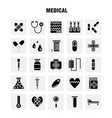 medical solid glyph icon pack for designers and vector image vector image