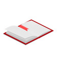 open book isometric vector image