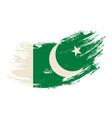 pakistani flag grunge brush background vector image vector image
