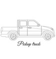 pickup track car body type outline vector image vector image