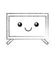 plasma tv kawaii character vector image
