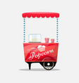 popcorn cart kiosk on wheels retailers sweets vector image
