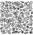 Rap doodles vector image vector image
