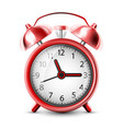 realistic icon ringing alarm clock isolated vector image vector image
