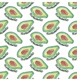 Seamless watercolor pattern with avocado on the vector image vector image
