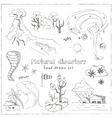 Set of doodle sketch Natural disasters vector image