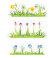 set of spring april flowery borders for easter vector image vector image