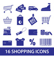 shopping icons set eps10 vector image