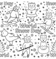 snow day seamless pattern1 vector image