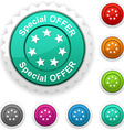 Special offer award vector image vector image