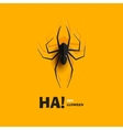 Spider cut out of paper vector image vector image