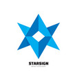 starsign - logo template concept vector image