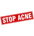stop acne square stamp vector image vector image