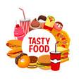 street food meals and snacks fastfood menu vector image vector image