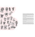 succulents in doodle style vector image vector image