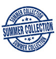 summer collection blue round grunge stamp vector image vector image