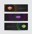 template black banner with round multicolored vector image