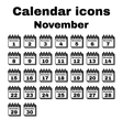 The calendar icon November symbol Flat vector image vector image