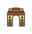 triumphal arch gate india to new delhi flat vector image vector image
