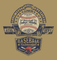 vintage baseball champion college athletic vector image vector image