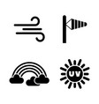 weather forecast meteorology simple related icons vector image